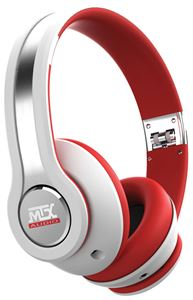 Picture of StreetAudio iX1 WHITE On Ear Headphones - White/Red