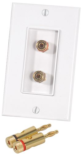 Picture of Musica BP-2W Dual Binding Post Wall Plate