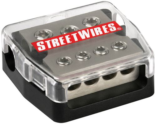 Picture of MTX StreetWires DBX3448 4 AWG 3 In/8 AWG 4 Out Distribution Block