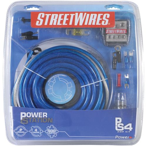 Picture of MTX StreetWires PSK04BM 4 AWG Power Station Multi Amp Kit
