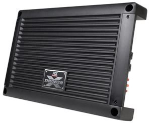 XTHUNDER1200.1 Mono Block Car Audio Amplifier Front Angle