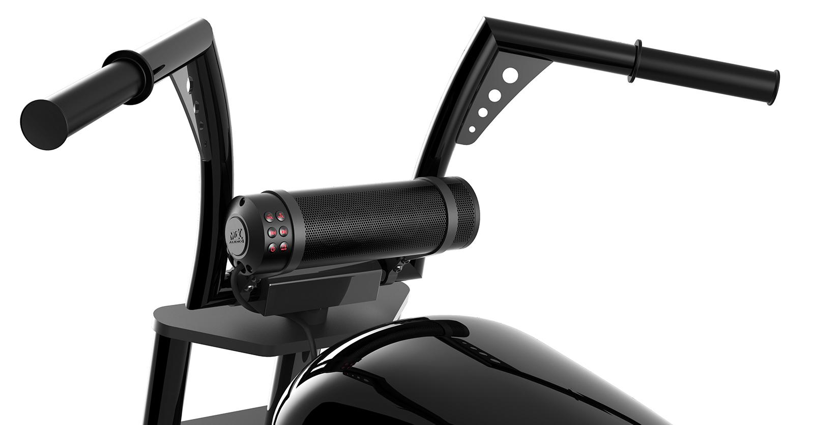 motorcycle sound system bluetooth speaker handlebar audio mtx bar handle mount speakers universal bars weather fairing wireless utv motorcycles bike