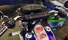 MUDHSB-B Motorcycle Bluetooth Sound Bar Installed on Dyna