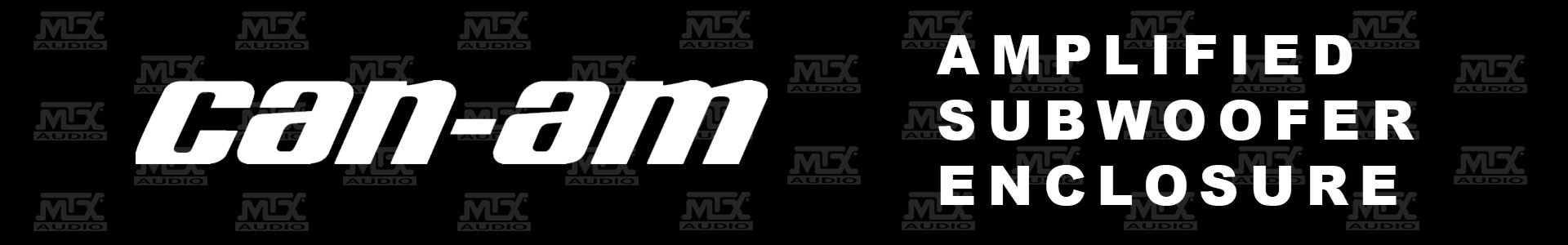MTX Releases CanAm Maverick & Commander Amplified Subwoofer Enclosures