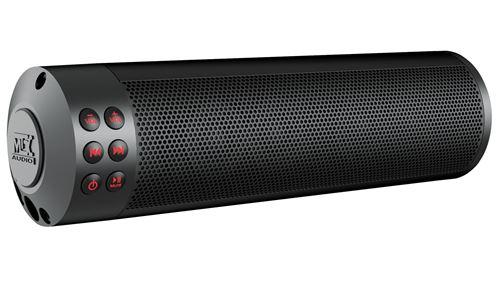 MUDHSB-B Motorcycle Bluetooth Sound Bar Front Angle
