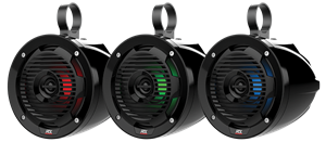 "Picture of MUD65PL 6.5"" 50W RMS 4Ω Cage Mount Coaxial Speaker Pair with RGB LED"