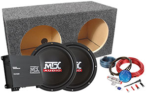 MTX Terminator Unloaded Car Subwoofer Package