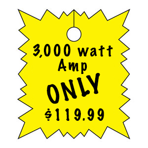 10,000 watt amp price tag