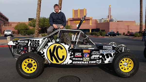 Josh Cobb with Race Car