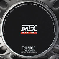 MTX THUNDER681 Speaker Components Back Logo